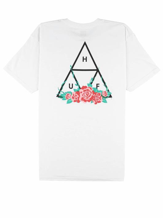 HUF T-skjorter City Rose hvit