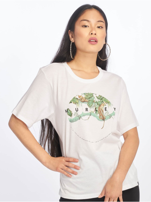 Hurley T-skjorter Tree Cats hvit
