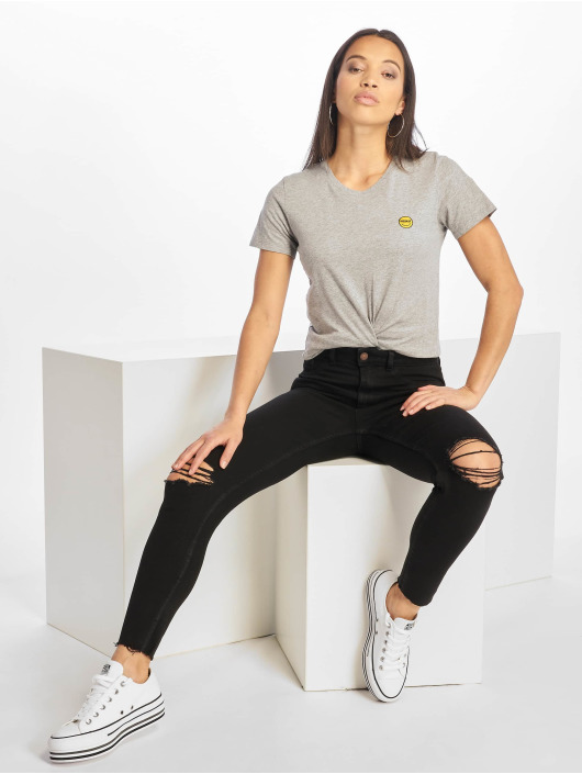 Iriedaily T-Shirt Daily Smile grau