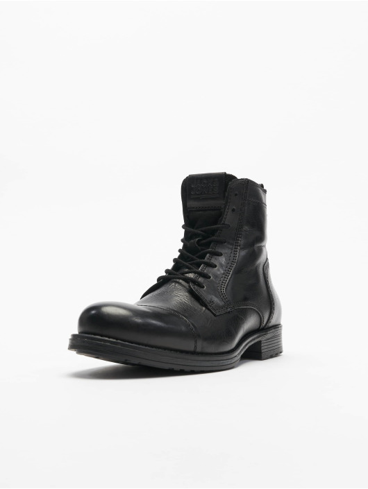 Jack & Jones Čižmy/Boots fwRussel Leather Warm šedá