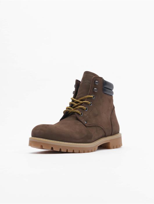 Jack & Jones Čižmy/Boots Jfwstoke Nubuck hnedá