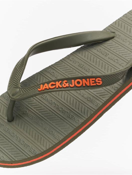 Jack & Jones Žabky JFW Basic olivová