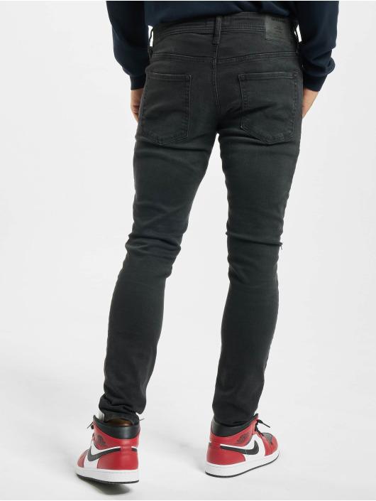 Jack & Jones Облегающие джинсы jjiLiam jjOriginal Agi 033 черный