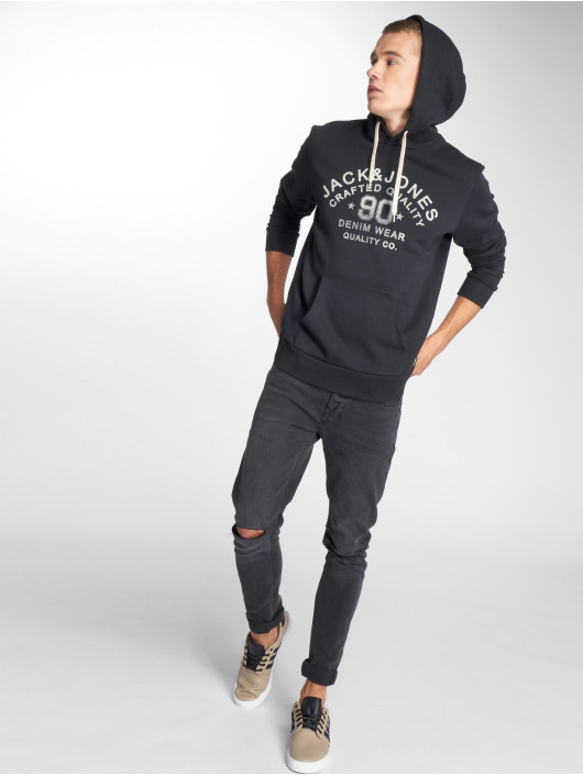 Jack & Jones Bluzy z kapturem jjeJeans czarny