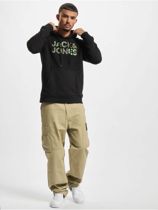 Jack & Jones Bluzy z kapturem Jjsoldier czarny