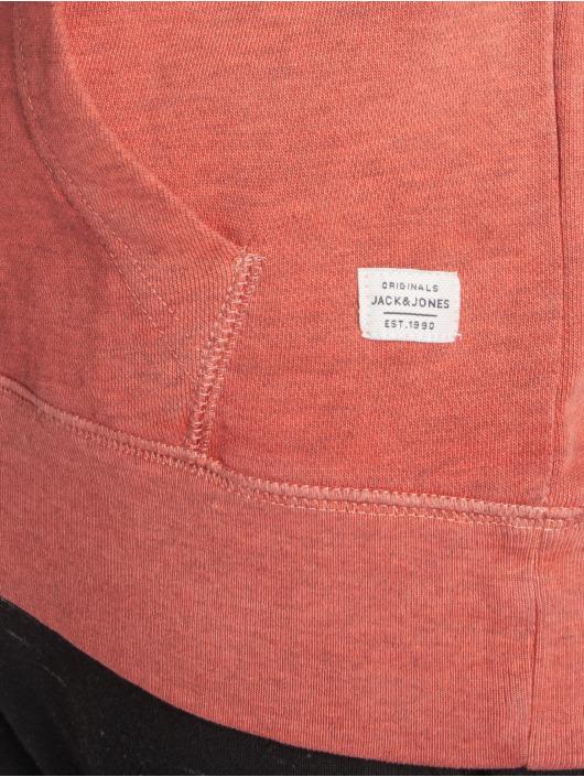 Jack & Jones Bluzy z kapturem jorDowntown czerwony