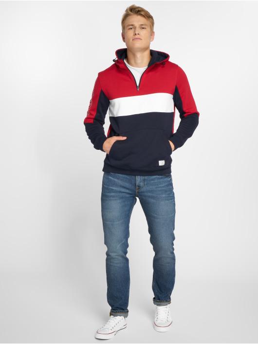 Jack & Jones Bluzy z kapturem Jcosean czerwony