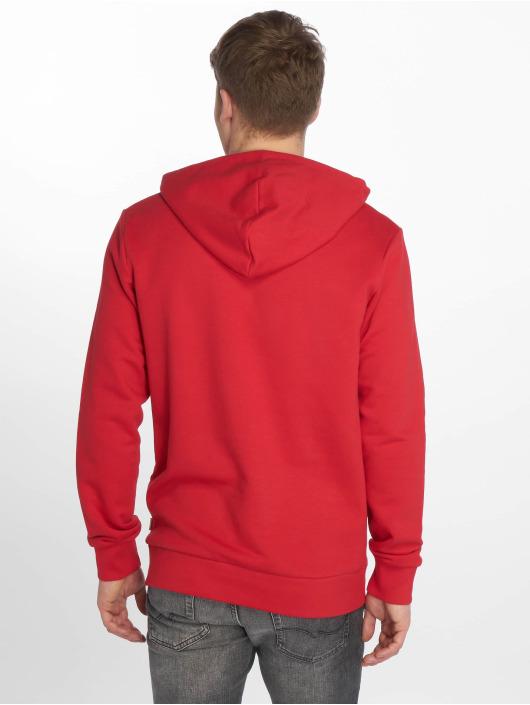 Jack & Jones Bluzy z kapturem jjeLogo czerwony