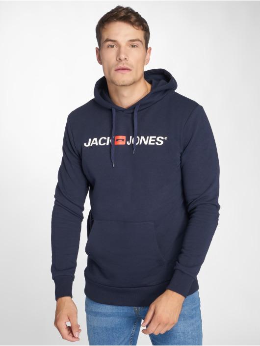 Jack & Jones Bluzy z kapturem 12137054 niebieski