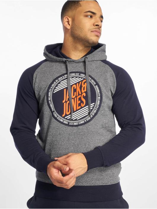 Jack & Jones Bluzy z kapturem jcoMill niebieski