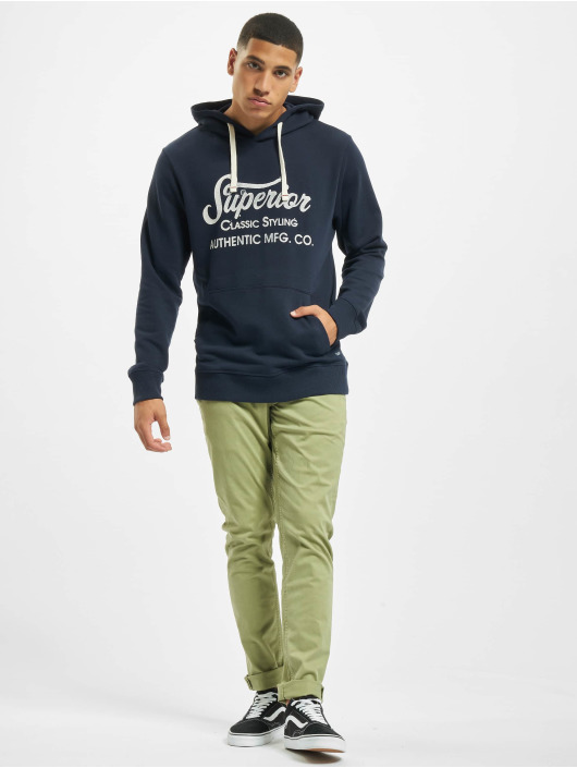 Jack & Jones Bluzy z kapturem jprBlurugged niebieski