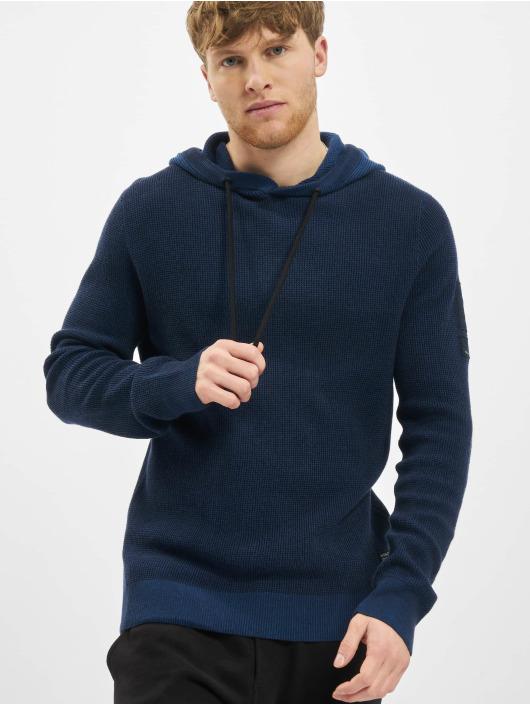 Jack & Jones Bluzy z kapturem jcoBadge Knit niebieski