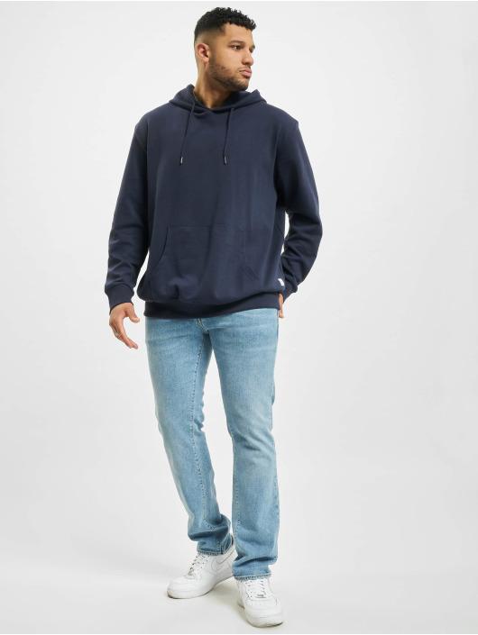 Jack & Jones Bluzy z kapturem jjeBasic Noos niebieski