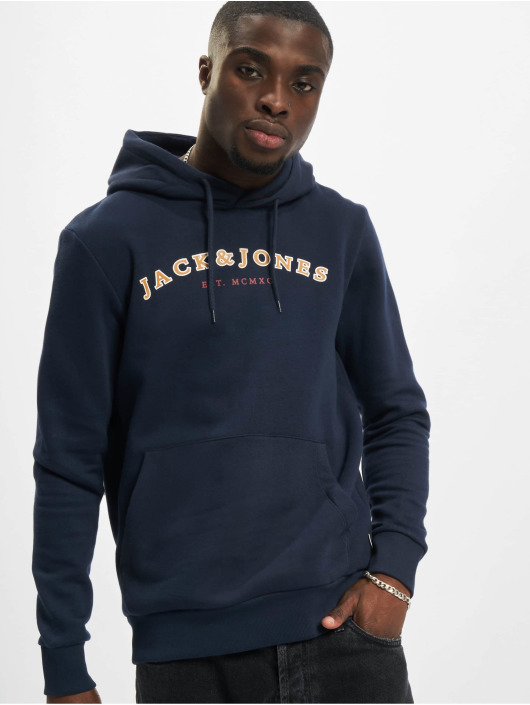 Jack & Jones Bluzy z kapturem Jjcross niebieski