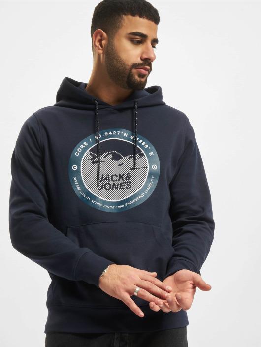 Jack & Jones Bluzy z kapturem Jcobilo niebieski
