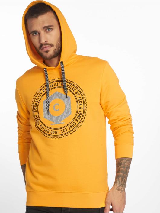 Jack & Jones Bluzy z kapturem jcoFrank pomaranczowy