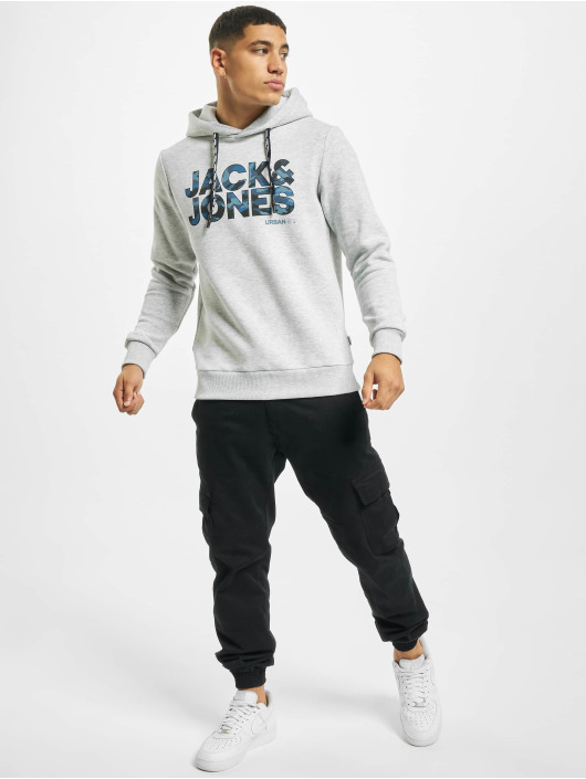 Jack & Jones Bluzy z kapturem jcoRad szary