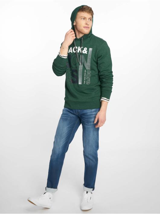 Jack & Jones Bluzy z kapturem jcoTilly zielony