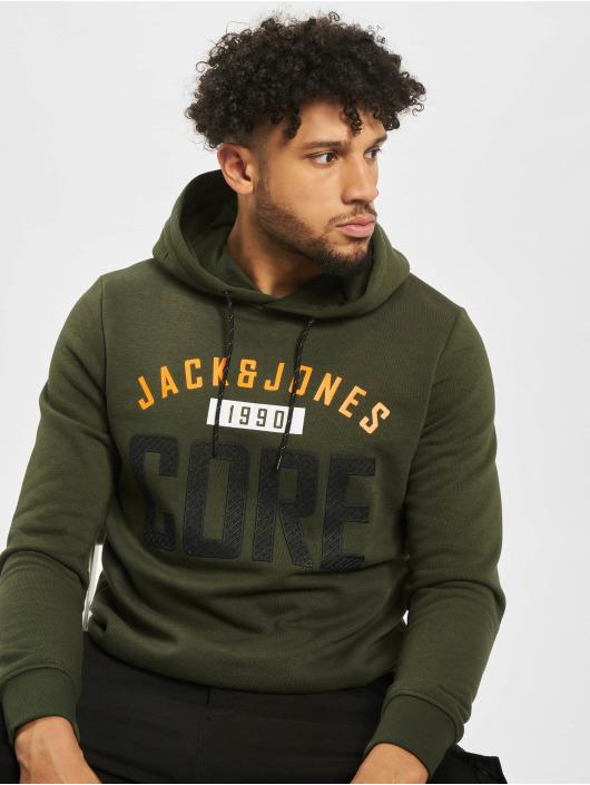 Jack & Jones Bluzy z kapturem jcoCarving zielony