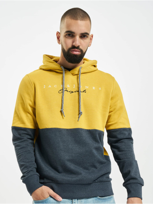 Jack & Jones Bluzy z kapturem jorTrailer zólty