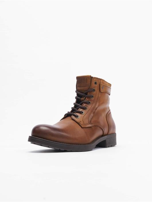 Jack & Jones Boots Jfwangus Leather bruin