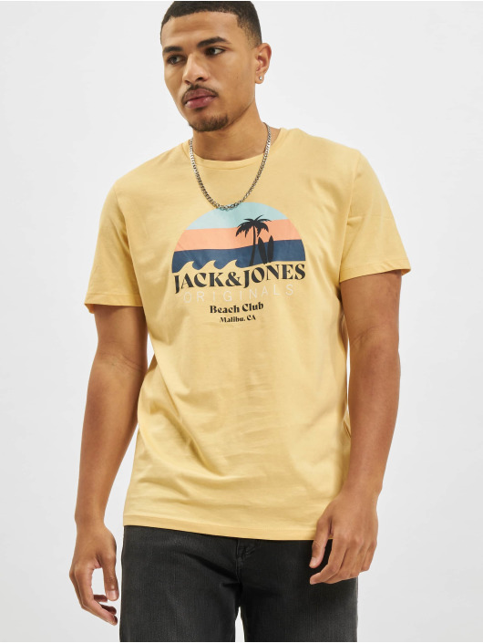 Jack & Jones Camiseta Jorcabana Crew Neck amarillo