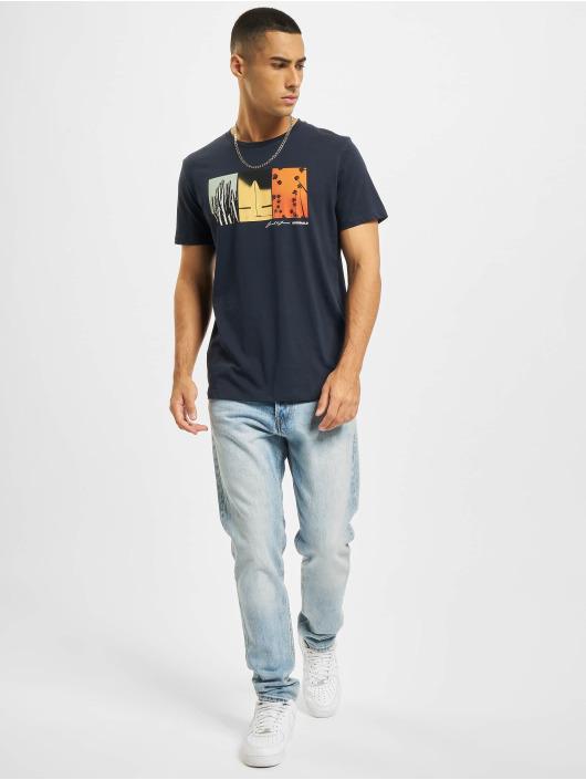Jack & Jones Camiseta Jorocto Crew Neck azul