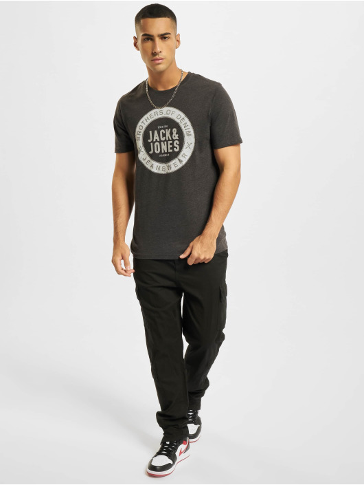Jack & Jones Camiseta Jjejeans O-Neck gris