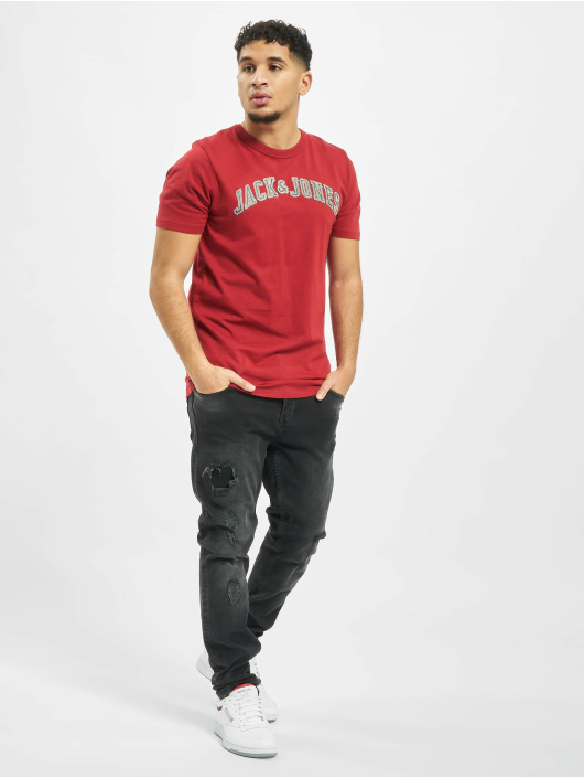 Jack & Jones Camiseta jprLogo rojo