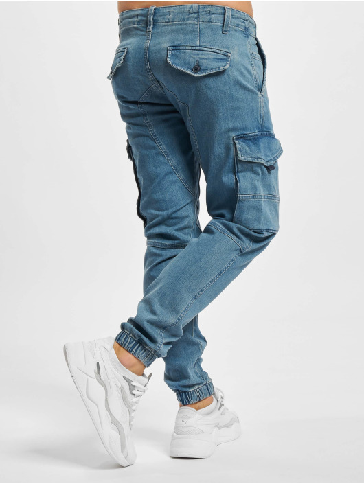 Jack & Jones Cargo pants Jjipaul Jjflake modrý