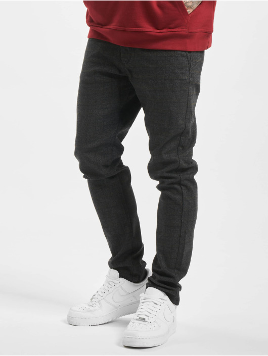 Jack & Jones Chino jjiMarco jjCharles Check AKM 783 DG STS black