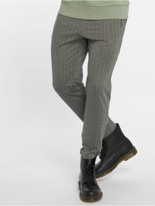 Jack & Jones Chino pants jjiVega jjTrash WW Pinstripe gray