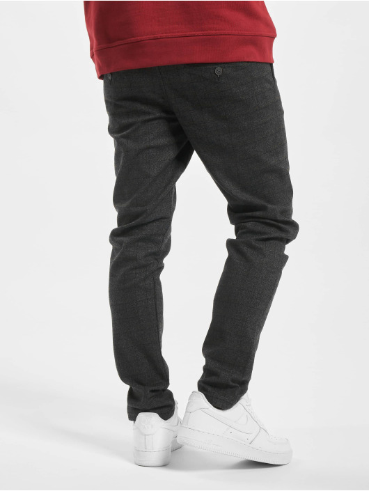 Jack & Jones Chino jjiMarco jjCharles Check AKM 783 DG STS zwart