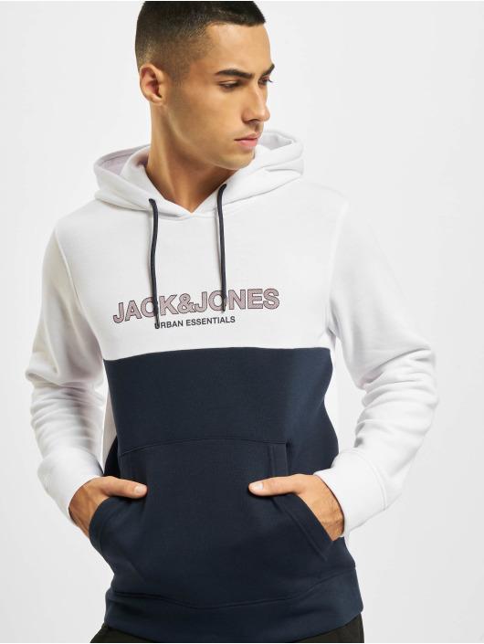 Jack & Jones Felpa con cappuccio Jjeurban bianco