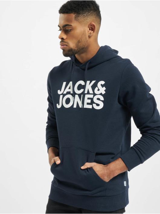 Jack & Jones Felpa con cappuccio jjeCorp Logo Noos blu