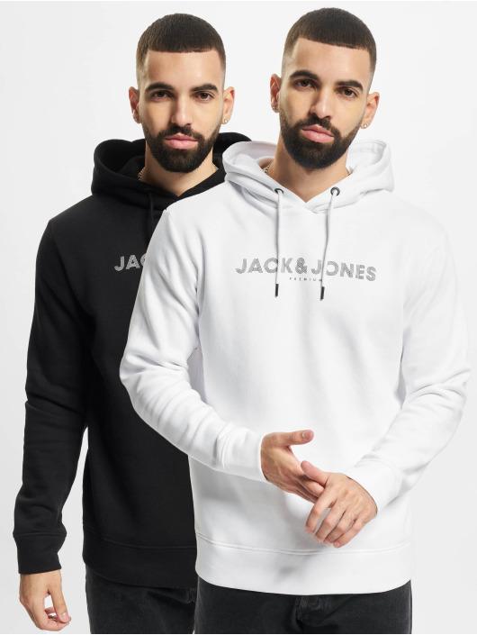 Jack & Jones Felpa con cappuccio Jprblabooster 2-Pack nero