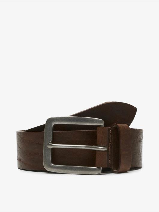 Jack & Jones Gürtel jacVictor Leather Noos braun
