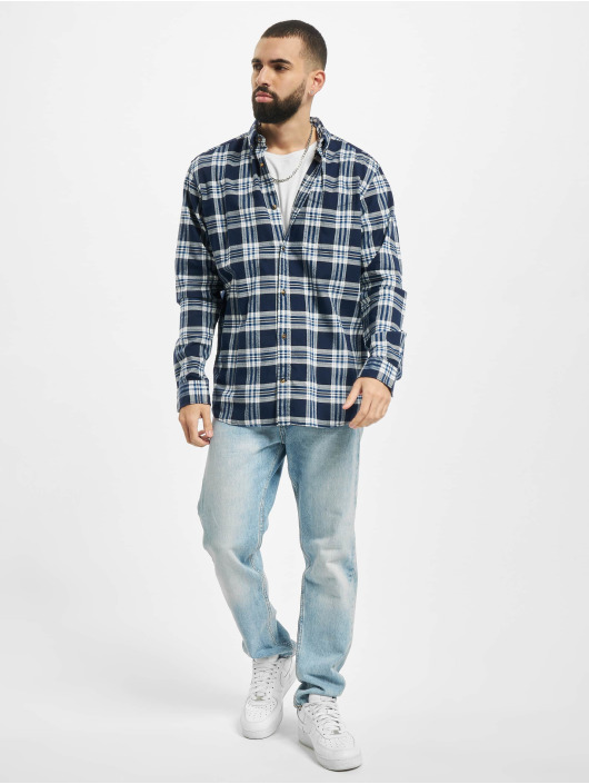 Jack & Jones Hemd jjeClassic Check blau