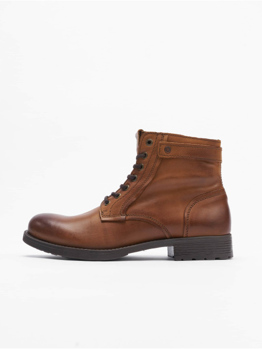 Jack & Jones Holínky Jfwangus Leather hnědý