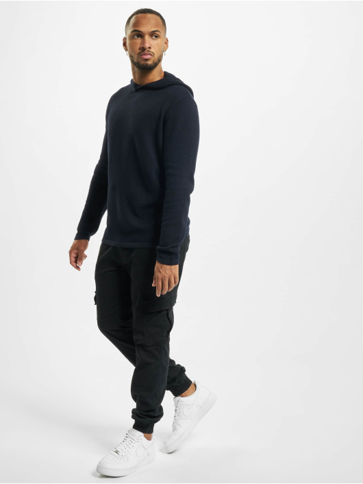 Jack & Jones Hoodie jjBronco Knit blå