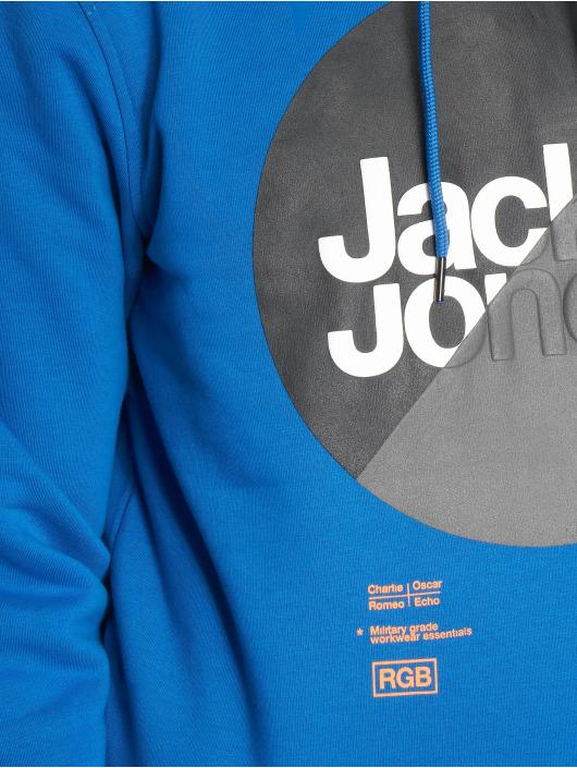 Jack & Jones Hoodie jcoLogan blue
