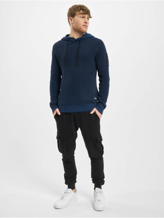 Jack & Jones Hoodie jcoBadge Knit blue