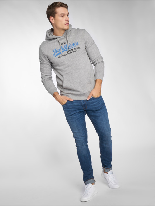 Jack & Jones Hoodie jjeLogo Two Color gray