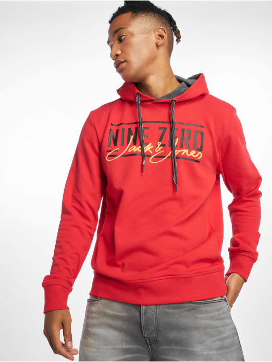 Jack & Jones Hoodie jcoAxel red