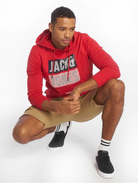 Jack & Jones Hoodie jcoMario Sweat red