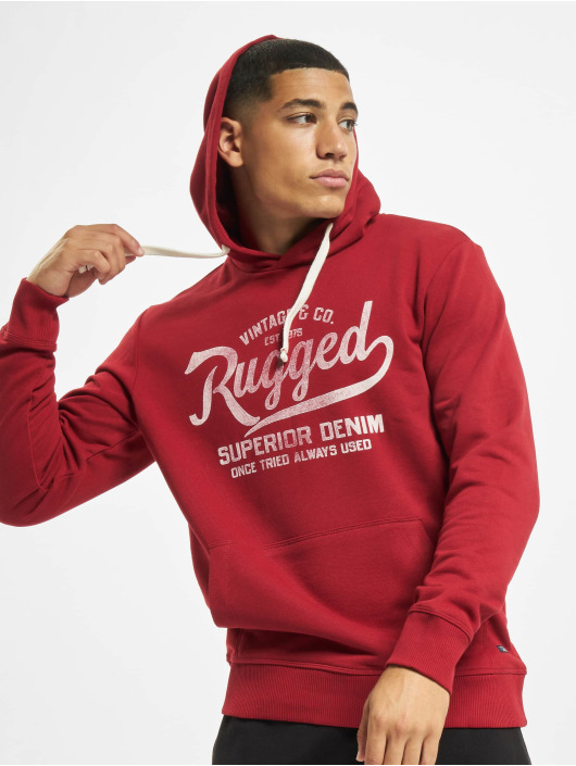 Jack & Jones Hoodie jprBlurugged red