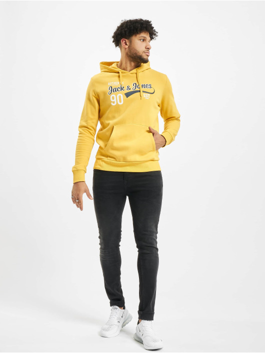 Jack & Jones Hoodie jjeLogo yellow