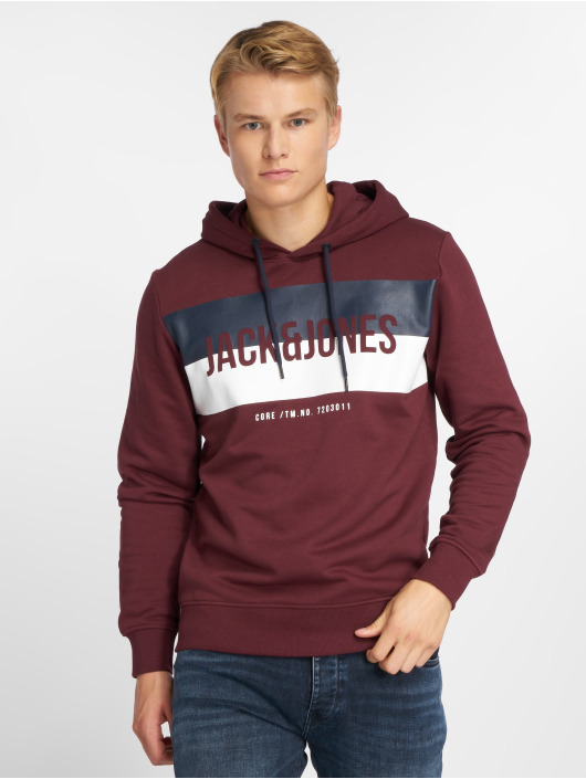 Jack & Jones Hoodies jcoBlock červený