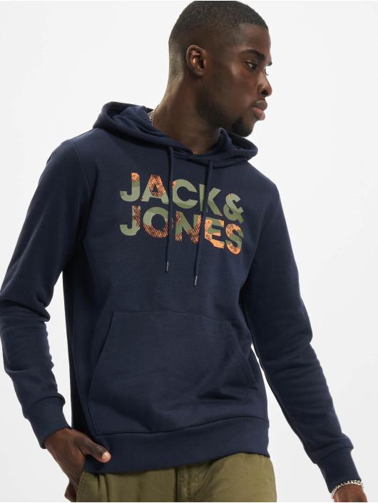 Jack & Jones Hoodies Jjsoldier blå