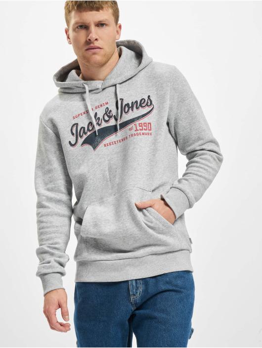 Jack & Jones Hoodies Jjelogo grå